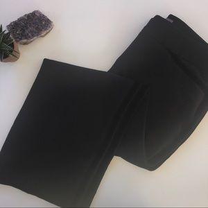 Black slacks with velvet trim